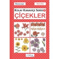 kolay kanaviçe serisi kitabı, etamin çiçek modelleri